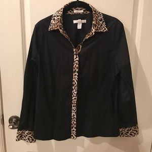 Chico's long sleeve blouse, size 1